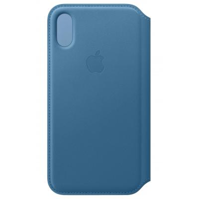 Apple Leren Folio-hoesje voor iPhone XS - Cape Cod-blauw mobile phone case