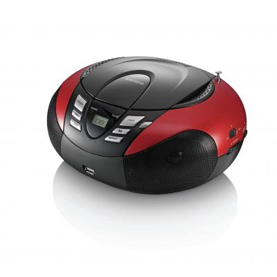 Lenco CD-radio: SCD-37 - Zwart, Rood