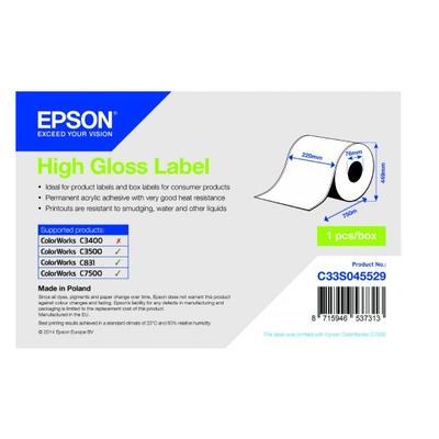 Epson C33S045529 Etiket - Wit