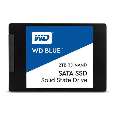 """Western Digital WD Blue 3D 2TB 2,5"""" SATA SSD - Zwart, Blauw, Wit"""