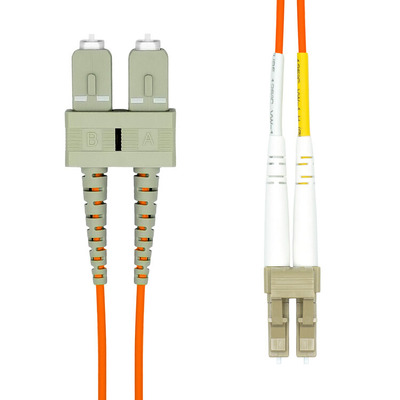 ProXtend LC-SC UPC OM2 Duplex MM Fiber Cable 0.5M Fiber optic kabel - Oranje