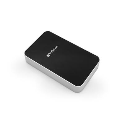 Verbatim Draagbare reservebatterij, 13000 mAh, 2 A Powerbank - Zwart, Zilver