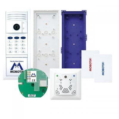 Mobotix deurintercom installatie: Complete Kit No. 3 w / Keypad, White - Wit