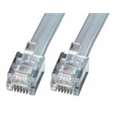 Lindy RJ-12 M/M 2.0m Telefoon kabel - Grijs