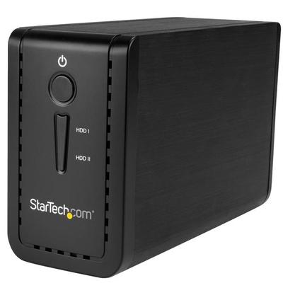 "StarTech.com USB 3.1 Dual 3.5"" SATA (6Gbps) HDD met RAID USB-C en USB-A Behuizing - Zwart"