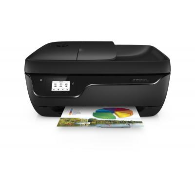 Hp multifunctional: OfficeJet OfficeJet 3833 - Zwart, Cyaan, Magenta, Geel