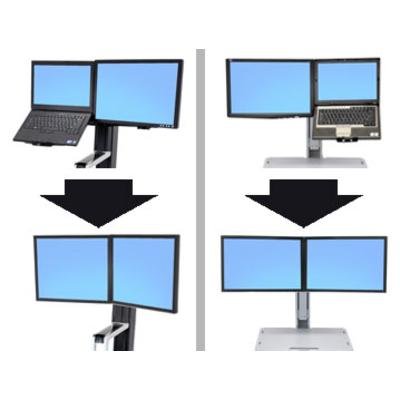Ergotron WorkFit Convert-to-Dual Kit from LCD & Laptop Montagekit - Zwart