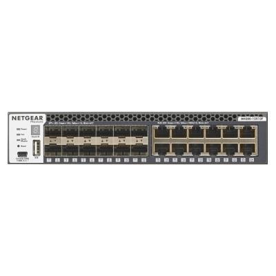 Netgear switch: M4300-12X12F - Zwart