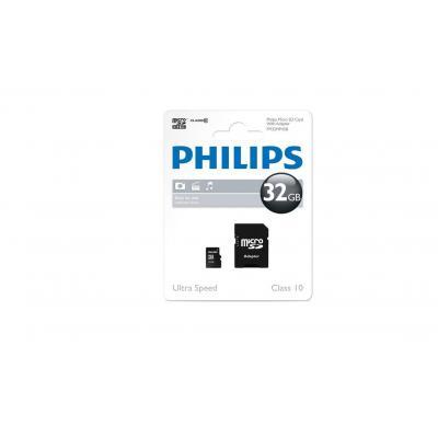 Philips flashgeheugen: 32GB microSD - Zwart
