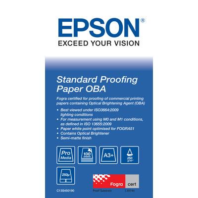 Epson Standard Proofing Paper OBA DIN A3+ 100 Sh Papier - Wit