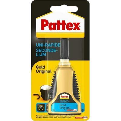 Pattex Second glue Super gel lijm - Zwart, Goud