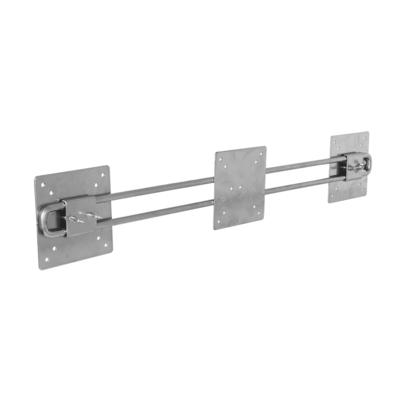 R-Go Tools R-Go Steel Wing voor 2 Beeldschermen, zilver Muur & plafond bevestigings accessoire
