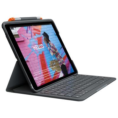 Logitech Slim Folio voor iPad (7th Gen) - QWERTY Mobile device keyboard - Grafiet