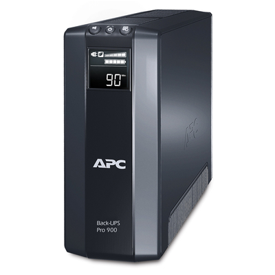 Apc UPS: Back-UPS PRO 900VA noodstroomvoeding 8x C13 uitgang, USB - Zwart