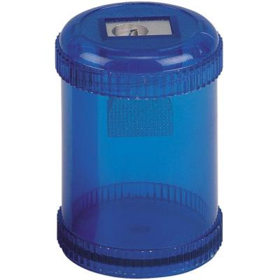 5star potloodslijper: Pencil Sharpener Plastic Canister, Maximum Pencil Diameter 8mm, 1 Hole Coloured - Blauw
