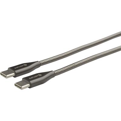 ESTUFF USB-C - C Cable 1,5m Steel USB kabel - Grijs