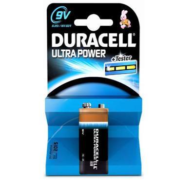 Duracell batterij: Ultra Power 9V 1 Pack - Zwart