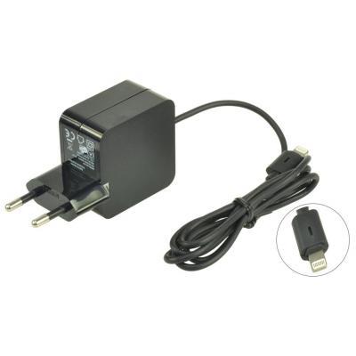 2-Power 2.1A Fixed Lead EU Plug AC Adapter Oplader - Zwart