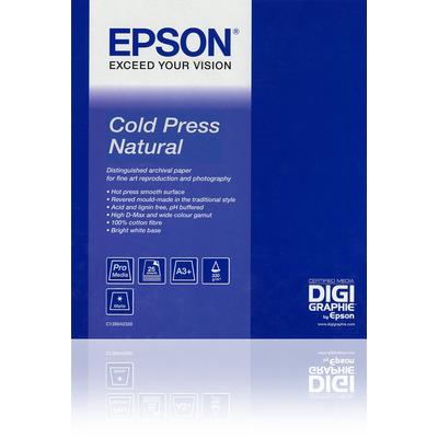 "Epson grootformaat media: Cold Press Natural 60""x 15m"
