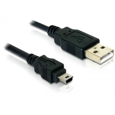DeLOCK Cable USB 2.0 > USB-B mini 5pin male/male USB kabel - Zwart