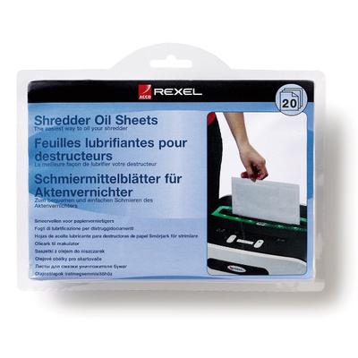 Rexel Shredder Oil Sheets (20) Papier-shredder accesoire