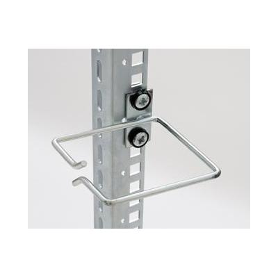 Equip kabelklem: Cable Management Ring, 80 x 80 mm, Front Opening, Central Fixing - Grijs