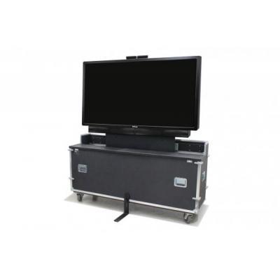 Infocus TV standaard: 132.45 kg, 1498.6 x 1727.2 x 508 mm, 2-piece clamshell locking lid, black - Zwart, Metallic