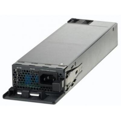 Cisco power supply unit: C3KX-PWR-350WAC - 350W, AC, PoE, 4-2A, 1250g, Silver - Zilver (Refurbished LG)