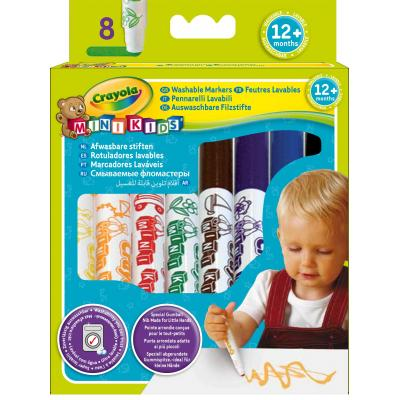 Crayola verf stift: Mini Kids - 8 Markers with rounded tip - Multi kleuren