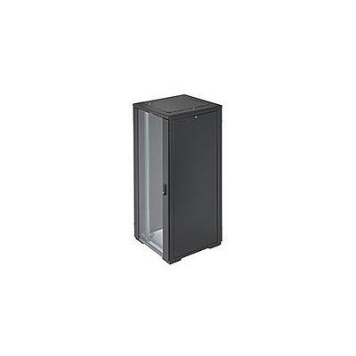 Eaton rack: RE Series IT Rack: 42U x 800mmW x 800mmD. Glazed Doors with sides - Zwart