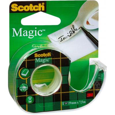 Scotch Magic Tape - Navulbare Dispenser - 19 mm x 7.5 m tape afroller - Groen, Wit