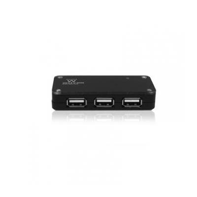Ewent hub: 4 Poorts USB Hub - Zwart