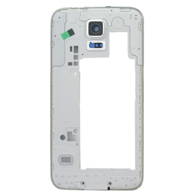 Samsung mobile phone spare part: Middle Frame, White, With Black Camera Lens for SM-G900F