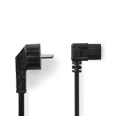 Nedis C13/Schuko, 3x 1mm², Ø6.5mm, PVC, 5m Electriciteitssnoer - Zwart