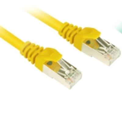 Sharkoon 0.25m Cat.6 S/FTP Netwerkkabel - Geel