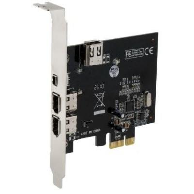 Sedna PCIE 3x 1394A Interfaceadapter - Zilver