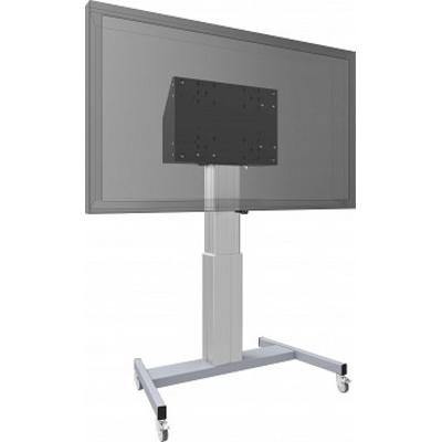 SmartMetals Vloerlift op wielen voor (touch-) flatscreens max. 120 kg TV standaard - Grijs, Zilver
