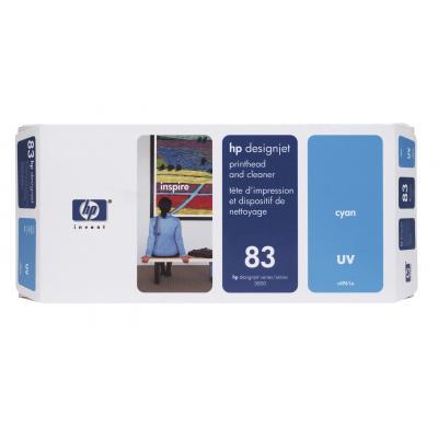 Hp printkop: 83 cyaan DesignJet UV-printkop en printkopreiniger