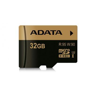 Adata flashgeheugen: 32 GB, 15 x 11 x 1, 0.25 g, 2.7-3.6 V, 95 MB/s, 90 MB/s, FCC, CE, BSMI, VCCI, UHS Class 3, Class .....