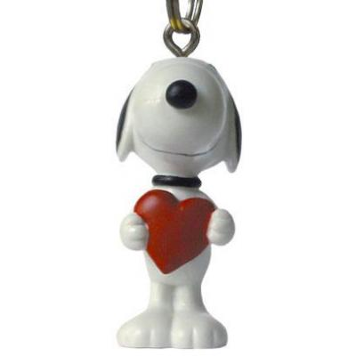 J-Straps telefoonhanger: Peanuts - Snoopy Heart - Rood, Wit