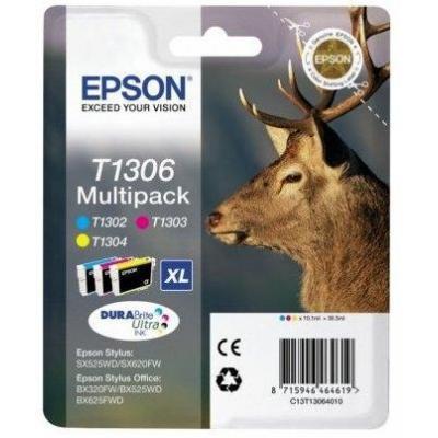 Epson inktcartridge: C13T13064022 - Cyaan, Magenta, Geel