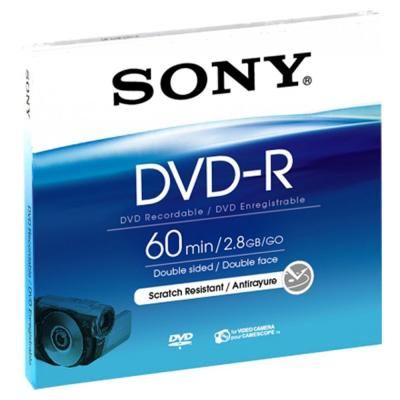 Sony DVD: DMR60A - 8-cm DVD-R-disc, DMR60A, voor een éénmalige opname.