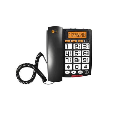 Topcom Sologic A801 - LCD, Handsfree speakerphone, 805g Dect telefoon - Zwart, Wit