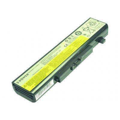 2-power batterij: Main Battery Pack 11.1V 5200mAh Lenovo IdeaPad Y480 - Zwart
