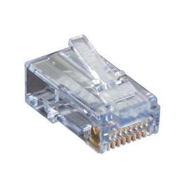 Black Box CAT6 EZ-RJ45 Modular Plugs, 25-Pack Kabel connector - Transparant