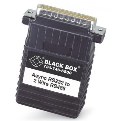 Black Box 1- DB25 female, 1- 4-screw terminal block Video converter - Zwart