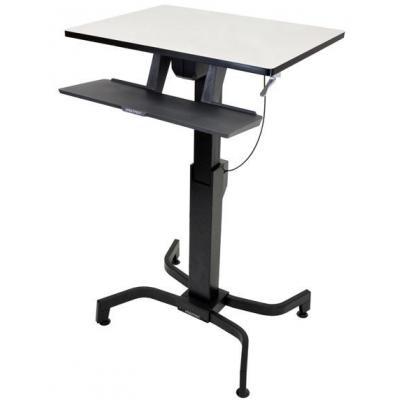 Ergotron bureau: WorkFit-PD - Zwart, Grijs
