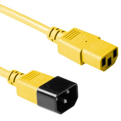 ACT C13 - C14, 0.60m Electriciteitssnoer - Geel