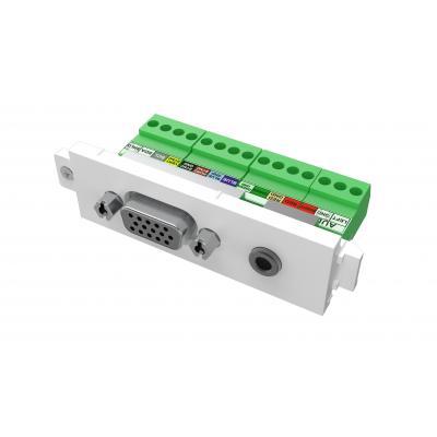 Vision wandcontactdoos: VGA+3.5mm (0.14″) module - Wit