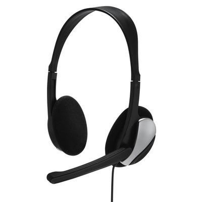 Hama Essential HS 200 Headset - Zwart, Zilver